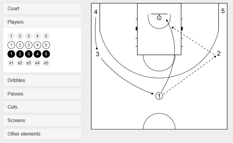 online basketball diagram tool
